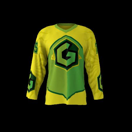 Gang Green Custom Hockey Jersey