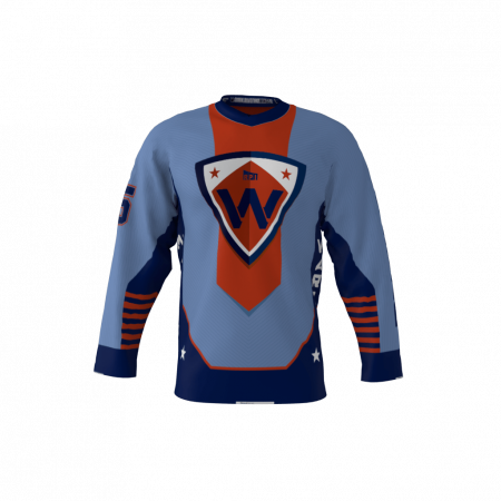 Warriors Blue Custom Hockey Jersey