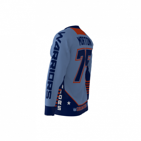 Warriors Blue Custom Hockey Jersey