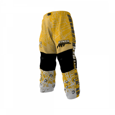 Hitmen Gold Custom Dye Sublimated Roller Hockey Pants