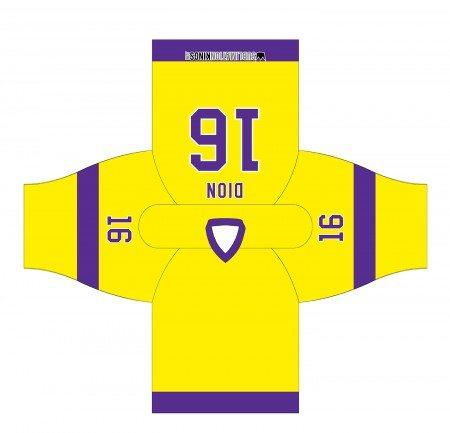 LA 1980 Hockey Jersey Yellow