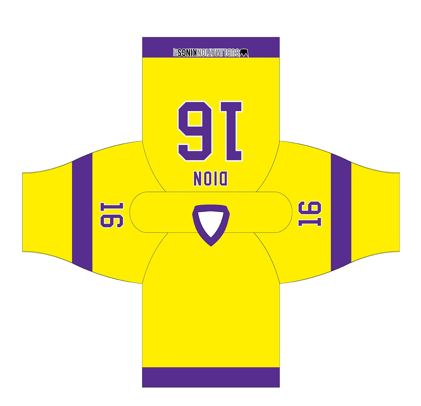 LA 1980 Hockey Jersey Yellow