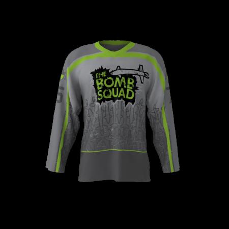 The Bomb Squad Gray Hockey Jersey