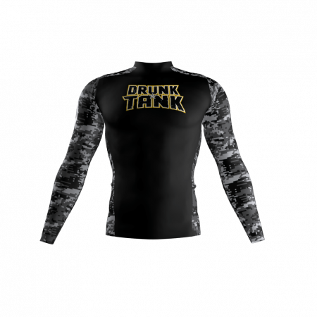 Drunk Tank Custom Compression Shirt Front
