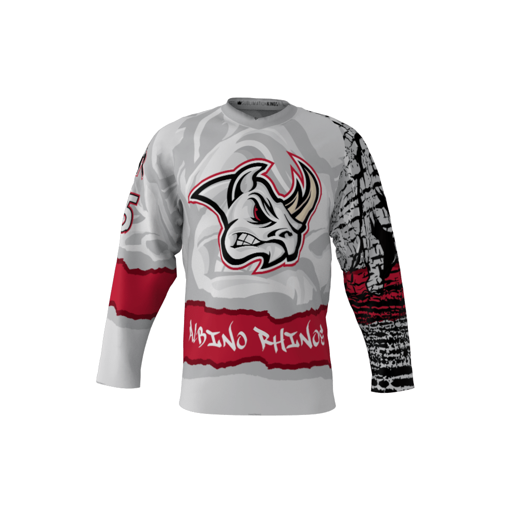 Albino Rhinos Gray Jersey – Sublimation Kings c8ec9003889