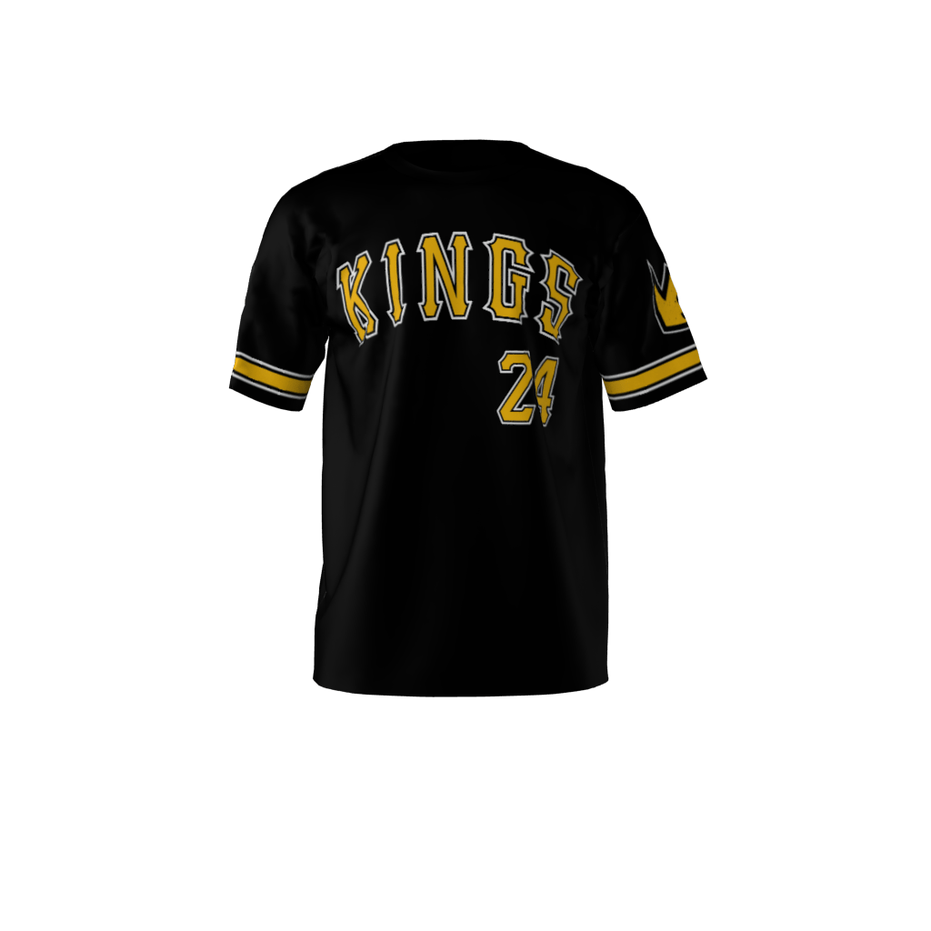 87f76f236 Custom Sublimated Kings Softball Jersey Front