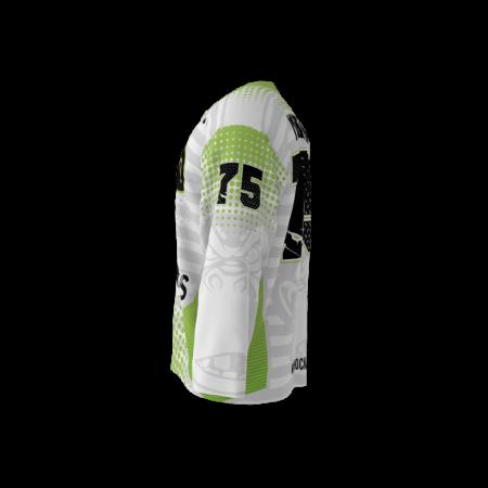 Spider Monkeys White Custom Dye Sublimated Hockey Jersey