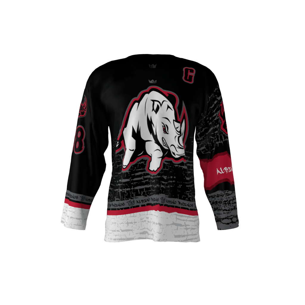 Albino Rhinos Black Jersey – Sublimation Kings 6f2d9f3dbce