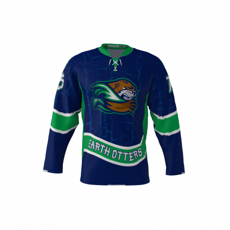 Earth Otters Custom Hockey Jersey