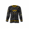 Warriors Black Custom Roller Hockey Jersey