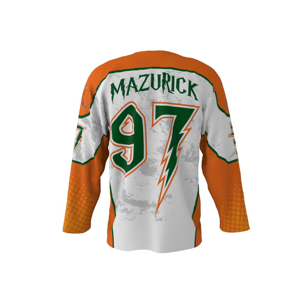 Invaders White Custom Hockey Jersey