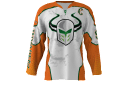 Invaders White Custom Hockey Jersey