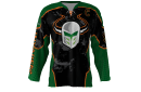 Invaders Black Custom Hockey Jersey
