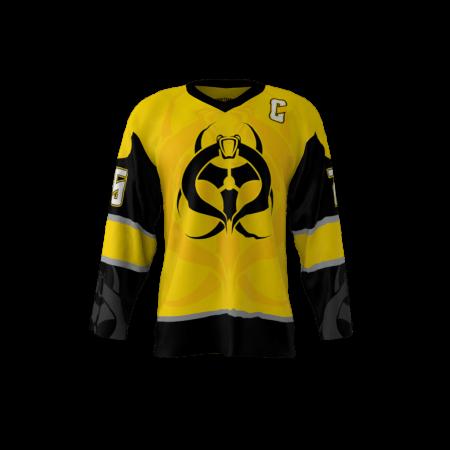 yellow nhl jersey