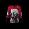 Albino Rhinos Red Custom Hockey Jersey