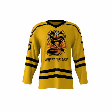 Cobra Kai Gold Custom Hockey Jersey