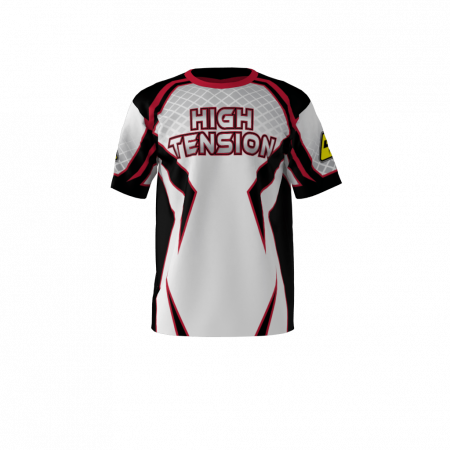 Custom Sublimated High Tension White Softball Jersey Left