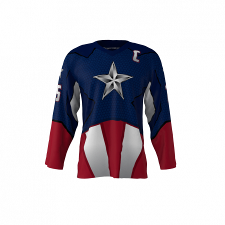 American Captain Custom Dye Sublimated Roller Hockey Jersey
