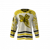 Killer Bees White Custom Hockey Jersey