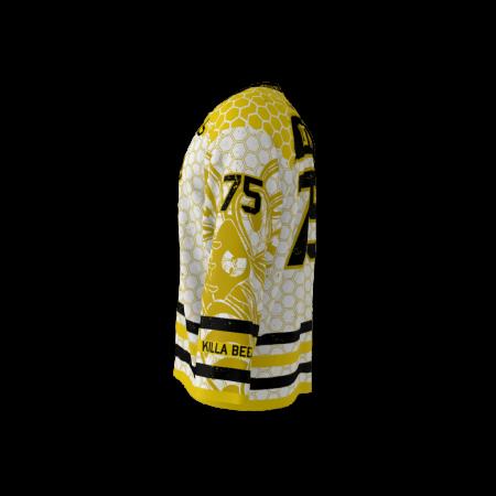 Killer Bees White Custom Hockey Jersey