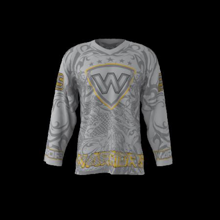 Warriors Gray Custom Roller Hockey Jersey