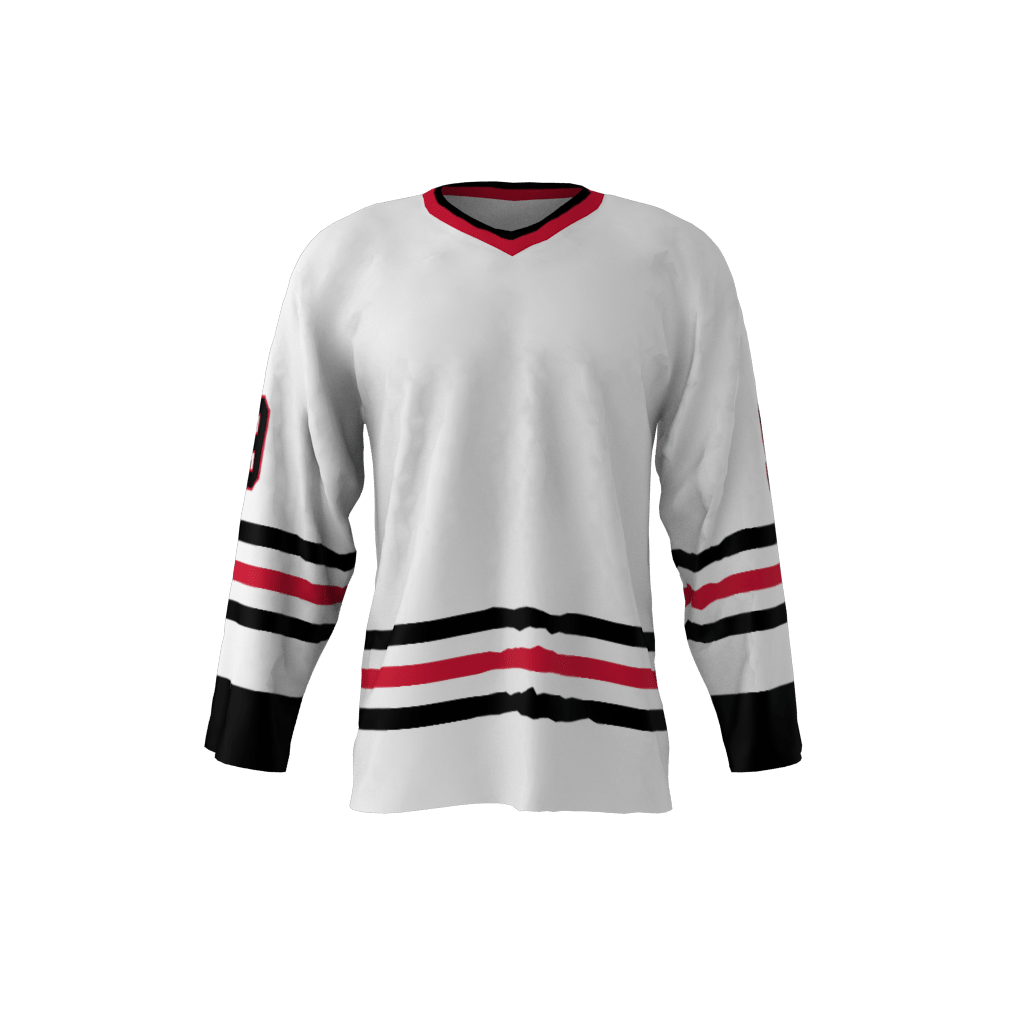 white hockey jersey