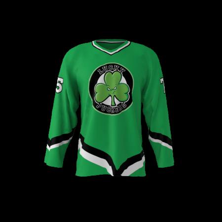 Lucky Puckers Custom Dye Sublimated Ice Hockey Jersey