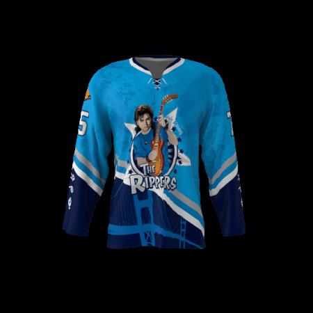 Rippers Blue Custom Hockey Jersey