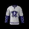 Armada White Custom Dye Sublimated Hockey Jersey