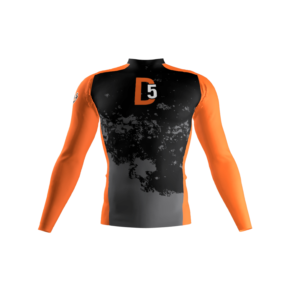 District 5 Orange Compression Shirt Sublimation Kings