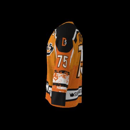 District 5 Orange Custom Dye Sublimated Ice Hockey Jersey