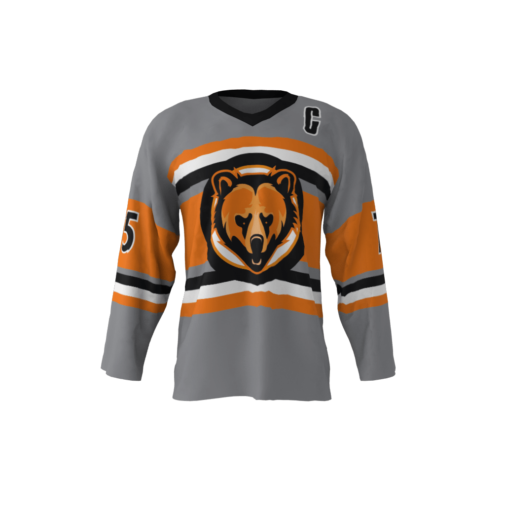 eff8dbccc9c Grizzlies Custom Dye Sublimated Ice Hockey Jersey