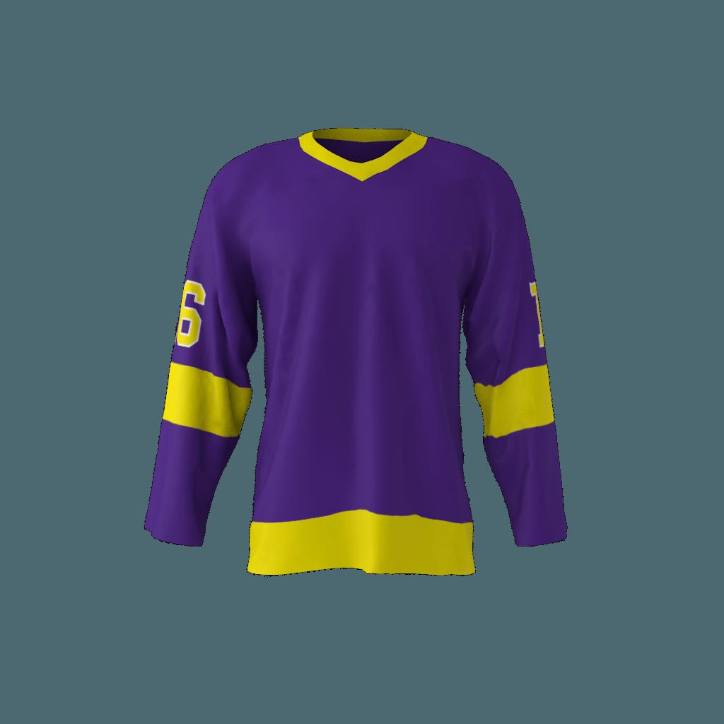 LA 1980 Hockey Jersey Purple