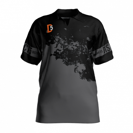 District 5 Custom Dye Sublimated Polo