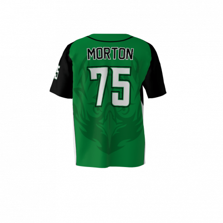 Eagles Custom Dye Sublimated Full Button Baseball Jersey