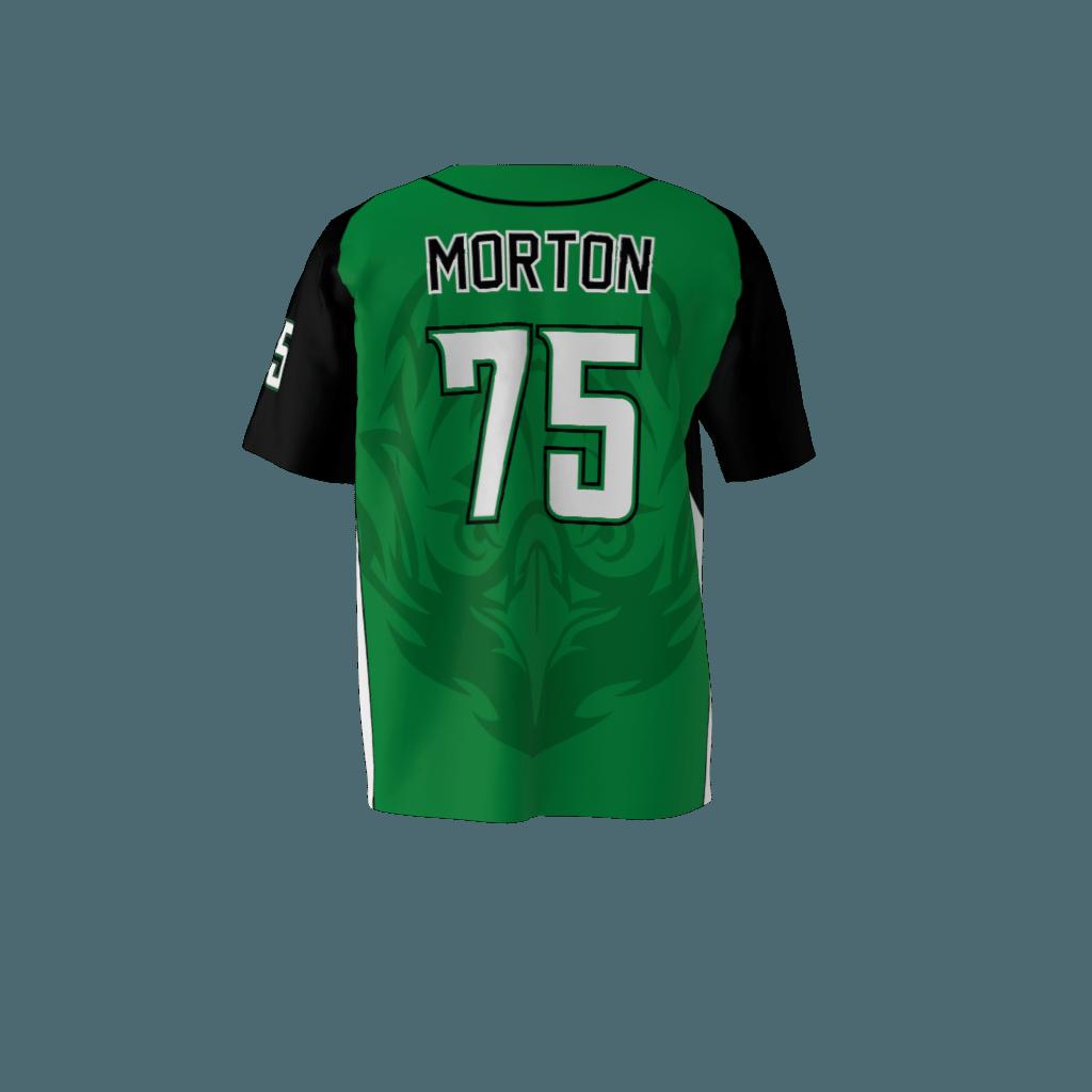 Eagles Green Baseball Jersey