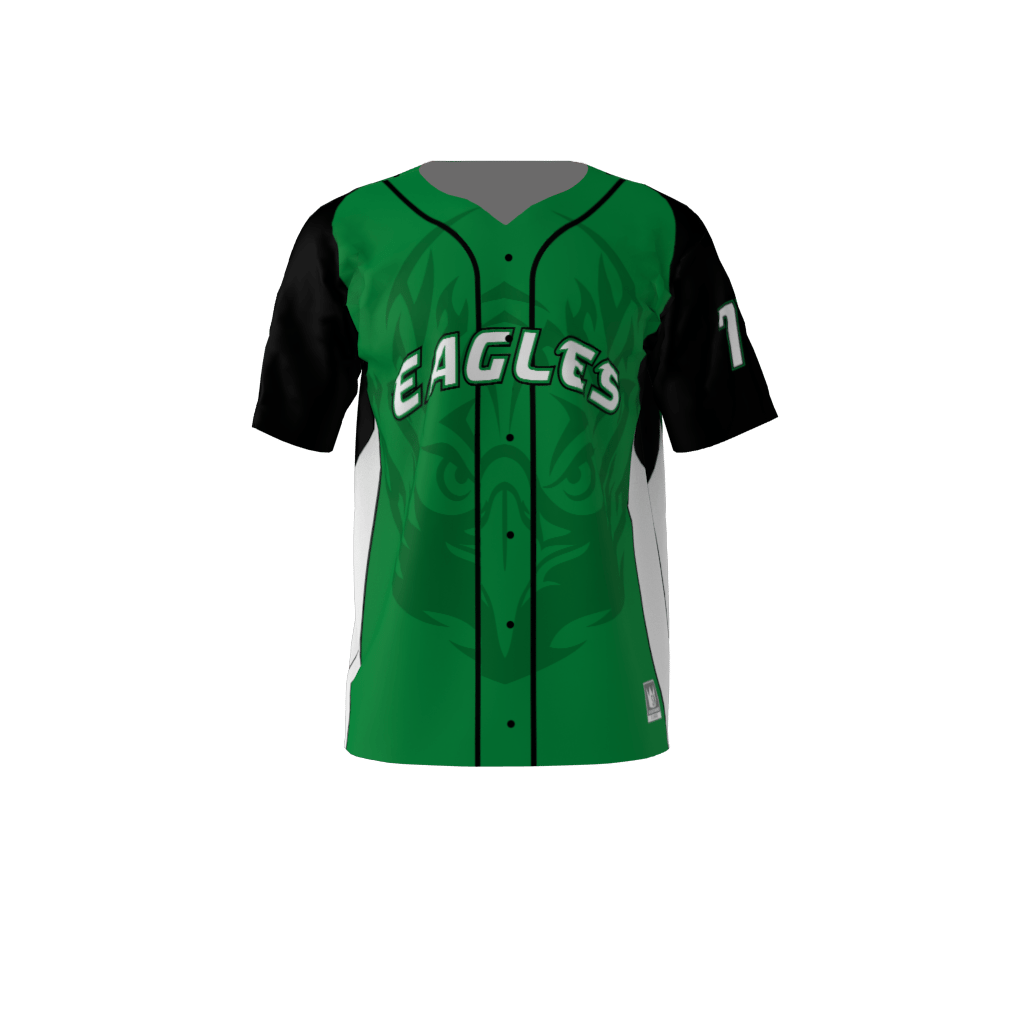 18a551c21 Eagles Custom Dye Sublimated Full Button Baseball Jersey