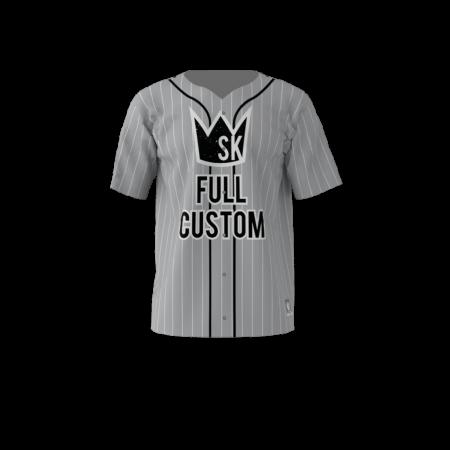 Custom Dye Sublimated Full Button Baseball Jersey