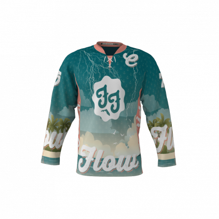Florida Flow Dark Custom Dye Sublimated Roller Hockey Jersey