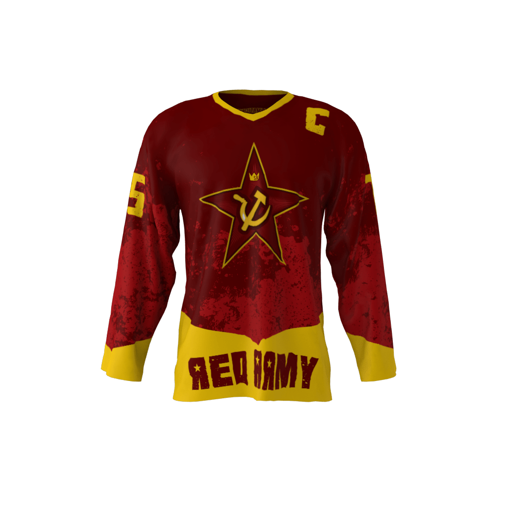 4786a8130cc Red Army Custom Dye Sublimated Ice Hockey Jersey
