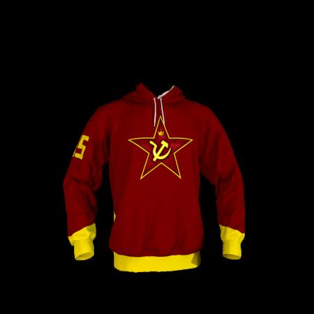 Red Army Custom Dye Sublimated Hoodie