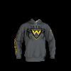 Warriors Gray Custom Dye Sublimated Hoodie