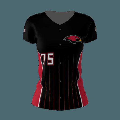 la roche redhawks black softball jersey sublimation kings