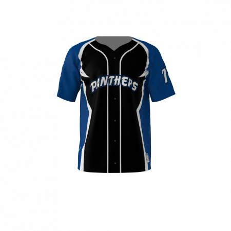 Panthers Custom Dye Sublimated Full Button Baseball Jersey