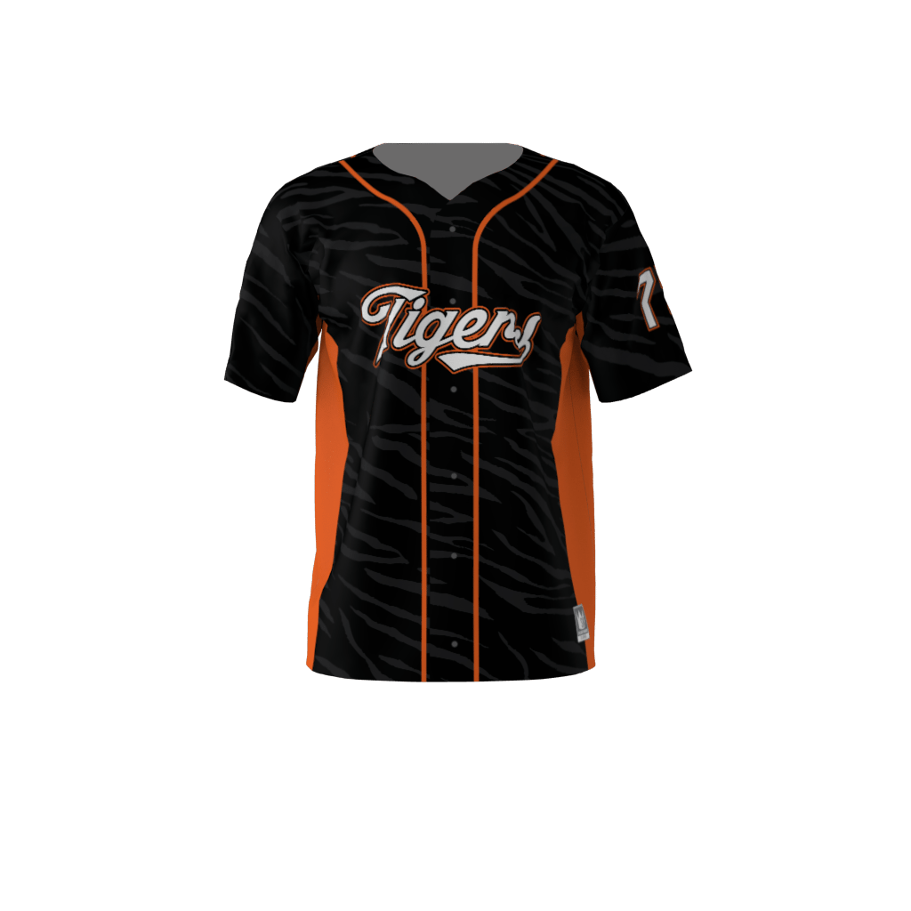 1d8d4481 Tigers Custom Dye Sublimated Full Button Baseball Jersey