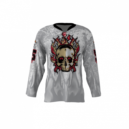 Wings Plus White Custom Dye Sublimated Hockey Jersey