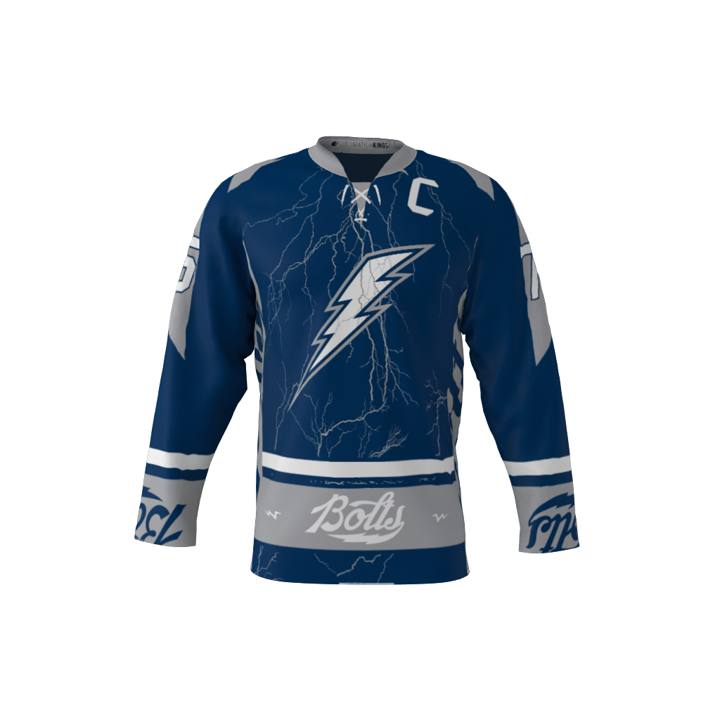 Bolts Custom Dye Sublimated Hockey Jersey 05d8b6219
