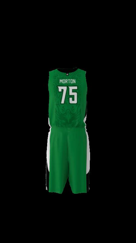Eagles Custom Dye Sublimated Basketball Uniform