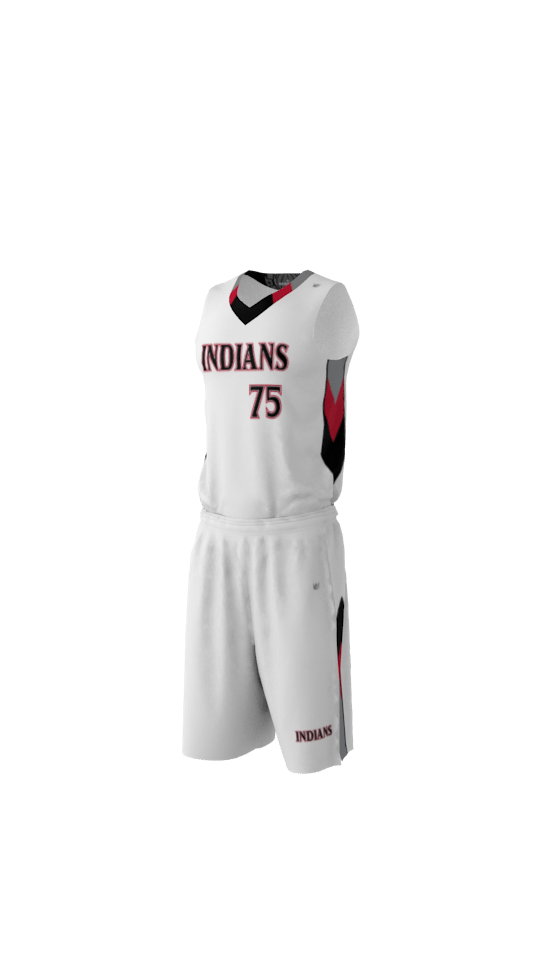 Indians Custom Dye Sublimated Basketball Uniform