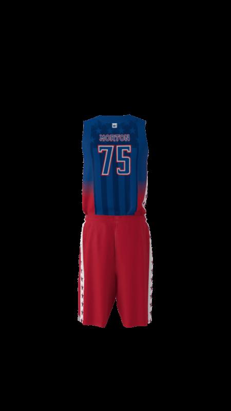 Patriots Custom Dye Sublimated Basketball Uniform